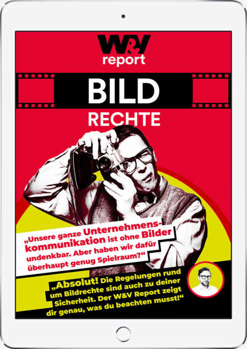 W&V Report Bildrechte